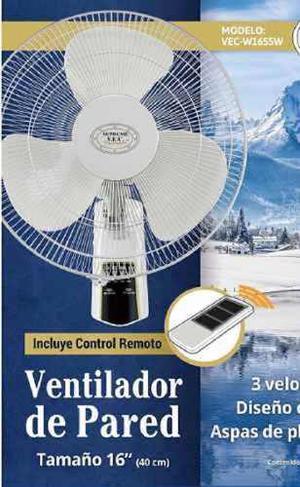 Ventilador De Pared 16 Blanco Control/r Supreme Vec Ww