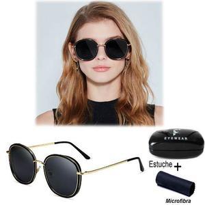 Lentes Polarizadas Polaroid Gafas Negro Mujer Estuche Y