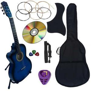Guitarra Acustica Curva Nuevo Paquete Completo De Accesorios