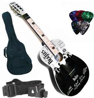 Paq. Guitarra Selecta Acústica Con Cromos The Beatles