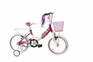 Bicicleta Infantil Bravia Niña Rodada 16 Ruedas Laterales