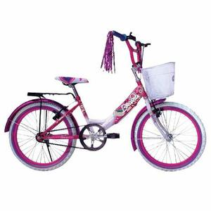 Bicicleta Infantil Bravia Rodada 20 Para Niña