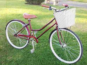 Bicicleta Vintage Clásica Retro Canasta Tejida Pedalé R24