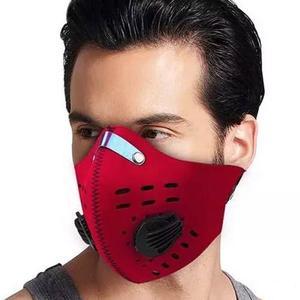 Mascara De Neopreno Para Bicicleta Motociclista Rojo D