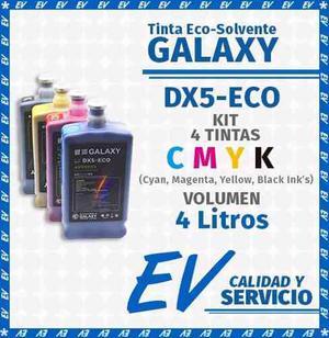 Tinta Ecosolvente Galaxy Dx4,5,7-eco Kit 2 Tintas A Elegir