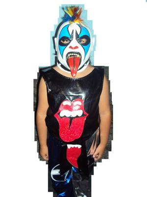 Traje y mascara modelo original d luchador psycho clown 08756341707
