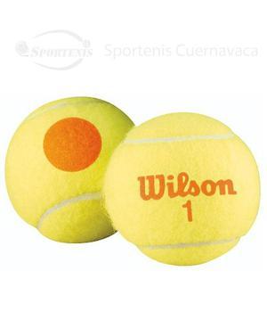 5 Botes De Pelotas De Tenis Wilson Punto Naranja