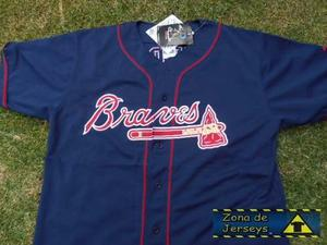 Jersey Beisbol Bravos De Atlanta Azul Gryboski Majestic