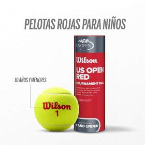 Paquete De 5 Botes De Pelotas De Tenis Wilson Punto Rojo