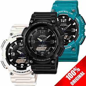 Reloj Casio Aqs810 - Solar Alarma Cronometro Hora Mundial
