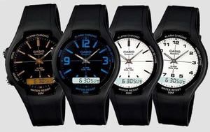 Reloj Casio Aw90 Caucho - Hora Doble - 100% Original Cfmx