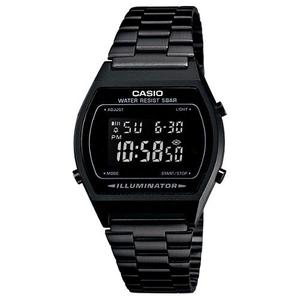 Reloj Casio B640 Vintage Negro Pavonado Luz Alarma Cronometr