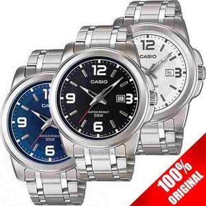 Reloj Casio Mtp Acero Fechador Cristal Mineral