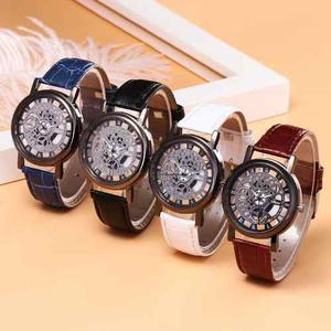 Reloj Hombre Maquinaria Visible 4 Colores