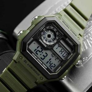 Reloj Hombre Tipo Militar Sport Navy Digital Led 4 Colores