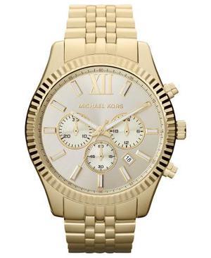 Reloj Michael Kors Hombre Lexington Mk Dorado