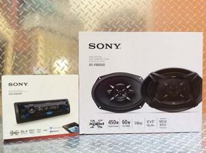 Auto Estéreo Sony Dsx-a400bt Bluetooth Usb Con Bocinas 6x9