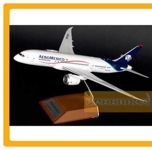 Avion Aeromexico Boeing  Metal Jc Wings Con Base