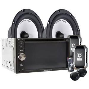 Paquete Pantalla Soundstream Vr-652b + Set De Medios Qb65c