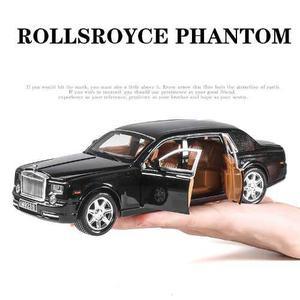Rolls Royce Phantom Negro Con Luz Y Sonido Escala 1:24