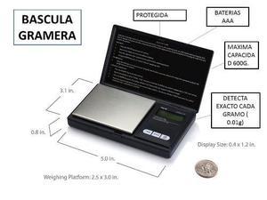 Bascula Gramera Nueva 600 Gramos Original Aws-600 Digital