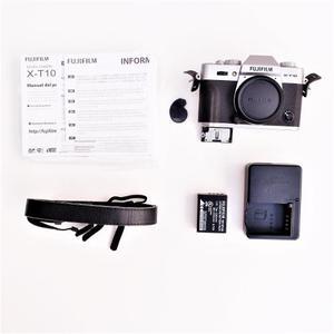 Camara Fujifilm Xt10 Plateada Con Lente Fuji 27mm 2.8