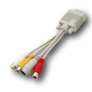 Adaptador Convertidor Vga A Tv Rca Y S-video Cable Pc 18cm