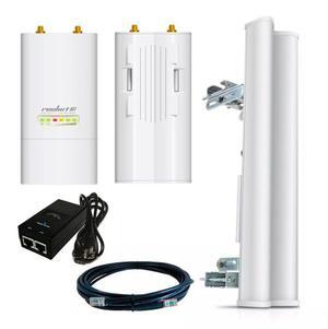 Antena Wisp Wifi 2.4 Ghz Rocket M2 Red Wifi Exterior Kit