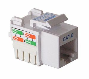 Jack Cat 6 Nexxt Certificable Conector Red Utp Gigabit Rj45