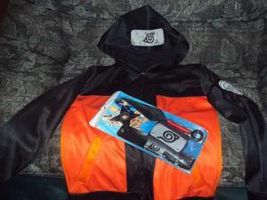 Kit De Accesorios Y Chamarra Naruto Cosplay