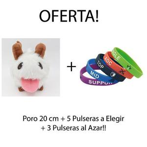 Poro Peluche + 8 Pulseras League Of Legends