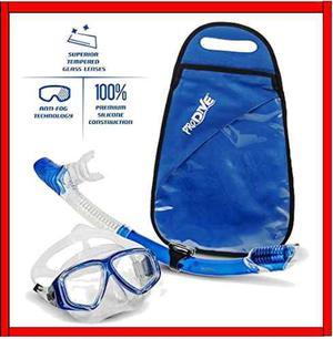 Visor Con Tubo Snorkel Mascara Profesional Kit Anti Fog Nada