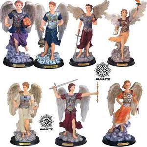 7 Arcangeles En Fina Resina 30cm Miguel, Gabriel, Rafael...