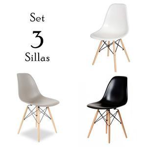 Set De 3 Sillas Eames - Promoción De Remate!!