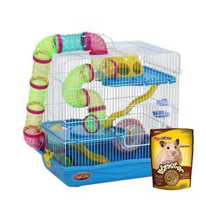 Jaula Fresno 4 Para Hamster Con Alimento Star Pet Shop