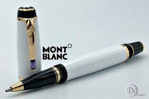 Pluma Rollerball Montblanc Boheme Blanco/ Oro/violeta