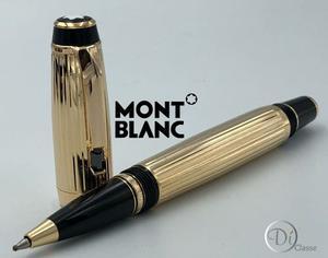 Pluma Rollerball Montblanc Boheme Oro Line /cristal Negro