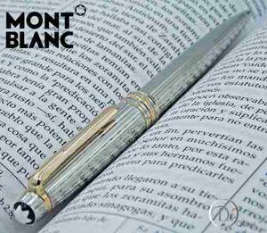 Pluma Rollerball Montblanc Meisterstük Plata Line De Giro