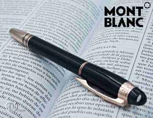 Pluma Rollerball Montblanc Moon Pearl Black Oro Rosa Tapa