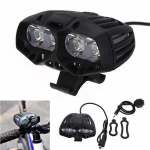 Lampara Bicicleta  Lumen Luces Led Frontal Recargable T6
