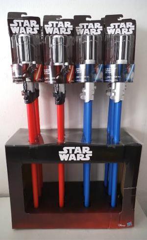 Lote 12 Sable Rojo Y Azul Star Wars Sin Luz Hasbro
