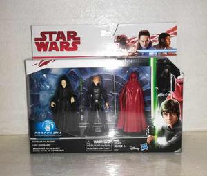 Ofert Set 3 Star Wars Force Link Palpatine Luke Royal Guard*