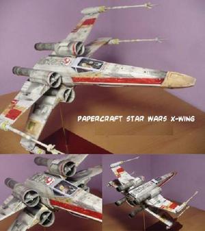 X-wing De Starwars 2 (para Armar En Papel)
