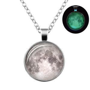 Collar Luna Brilla Oscuridad Envio Gratis Llena Moon Platead