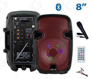 Bafle Amplificado Haler 8 Pulgadas Recargable Usb/sd/fm/aux