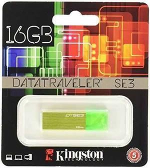 Kingston Memoria Usb 2.0 Dtse3 Verde 16gb Mayoreo Original
