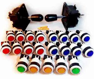 2 Palancas Joysticks Y 21 Botones De Lujo Envío Gratis