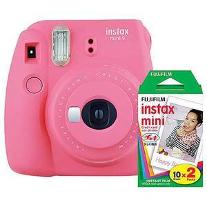 Camara Intax Fuji Mini 9 Rosa Flamingo+kit De 20 Peliculas