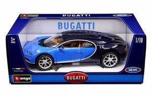 Burago Escala 1:18 * Bugatti Chiron Azul*