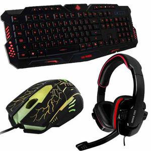 Kit Gamer Teclado Mouse Diadema Eagle Warrior G79 Hs-501 G16